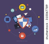 flat shield icon. data... | Shutterstock . vector #310067789