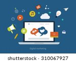set of flat design concept... | Shutterstock . vector #310067927