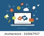 set of flat design concept... | Shutterstock . vector #310067927