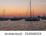 sunset on boat deck. sunset on... | Shutterstock . vector #310068224