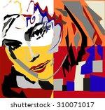 Pop Art Woman. Vector...