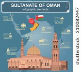 sultanate of oman infographics  ...   Shutterstock .eps vector #310082447