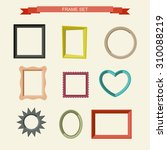set of different frames in flat ... | Shutterstock .eps vector #310088219