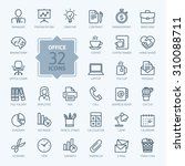 outline web icon set   office. | Shutterstock .eps vector #310088711