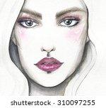 Portrait Of A Beautiful Woman.