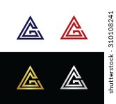 vector logo with triangle shape ... | Shutterstock .eps vector #310108241