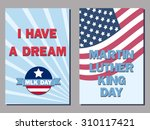 set of two cards for the martin ... | Shutterstock .eps vector #310117421