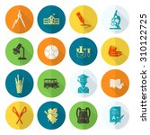 school and education icon set.... | Shutterstock . vector #310122725