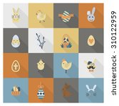 celebration easter icons. .... | Shutterstock . vector #310122959