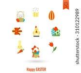 celebration easter icons. .... | Shutterstock . vector #310122989