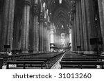 the interior of duomo in... | Shutterstock . vector #31013260