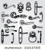 set of doorknobs   Shutterstock .eps vector #310137305
