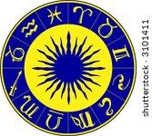 horoscope symbols on the blue... | Shutterstock .eps vector #3101411
