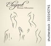 set of elegant woman... | Shutterstock .eps vector #310142741