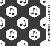 image of doubled sixteenth note ... | Shutterstock . vector #310145465