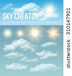sky creator. set realistic...   Shutterstock .eps vector #310147901