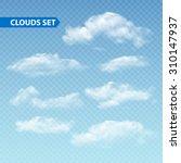 set of transparent different... | Shutterstock .eps vector #310147937