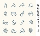 camping line icons | Shutterstock .eps vector #310157141