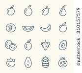 fruits line icons | Shutterstock .eps vector #310157579