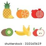 healthiest sliced fruits....   Shutterstock .eps vector #310165619
