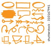 hand drawn highlighter elements ... | Shutterstock .eps vector #310167941