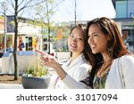 two young girlfriends at... | Shutterstock . vector #31017094