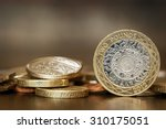 british coins over blurred... | Shutterstock . vector #310175051