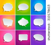 abstract vector speech bubbles... | Shutterstock .eps vector #310178615