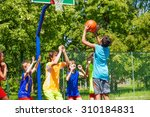 group of teenagers play... | Shutterstock . vector #310184831