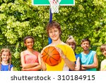 boy with ball and international ... | Shutterstock . vector #310184915