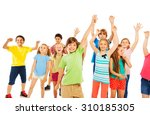 boys and girls very happy... | Shutterstock . vector #310185305