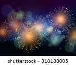 vector holiday fireworks... | Shutterstock .eps vector #310188005