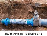 water pvc plastic pipes in...   Shutterstock . vector #310206191