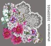 Openwork  Bouquet Flowers ...