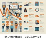 illustration of stocks market... | Shutterstock .eps vector #310229495
