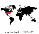 usa position in the world... | Shutterstock .eps vector #31024528