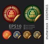 vector   certified non gmo...   Shutterstock .eps vector #310245611
