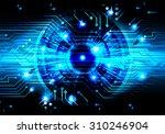 dark blue color light abstract... | Shutterstock .eps vector #310246904