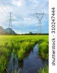landscape of high voltage power ... | Shutterstock . vector #310247444