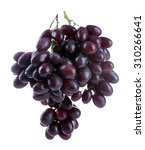 fresh ripe grapes  isolated on... | Shutterstock . vector #310266641