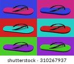 Collage Of Summer Flip Flops....