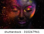 bright neon make up  creative... | Shutterstock . vector #310267961