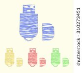 vector illustration of computer ...   Shutterstock .eps vector #310273451