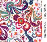 seamless paisley hand drawn... | Shutterstock .eps vector #310273625