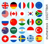 simple circle flags vector of... | Shutterstock .eps vector #310277864