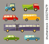 retro flat car icons set  | Shutterstock . vector #310279679