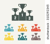 gold  silver and bronze trophy... | Shutterstock .eps vector #310292345