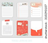 journaling cards  notes ... | Shutterstock .eps vector #310293107