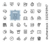 outline web icon set   office... | Shutterstock .eps vector #310293947