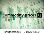 commodity prices written in... | Shutterstock . vector #310297319